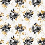 StudioE Fabrics Watercolor Sketchbook - Small Bouquets - White