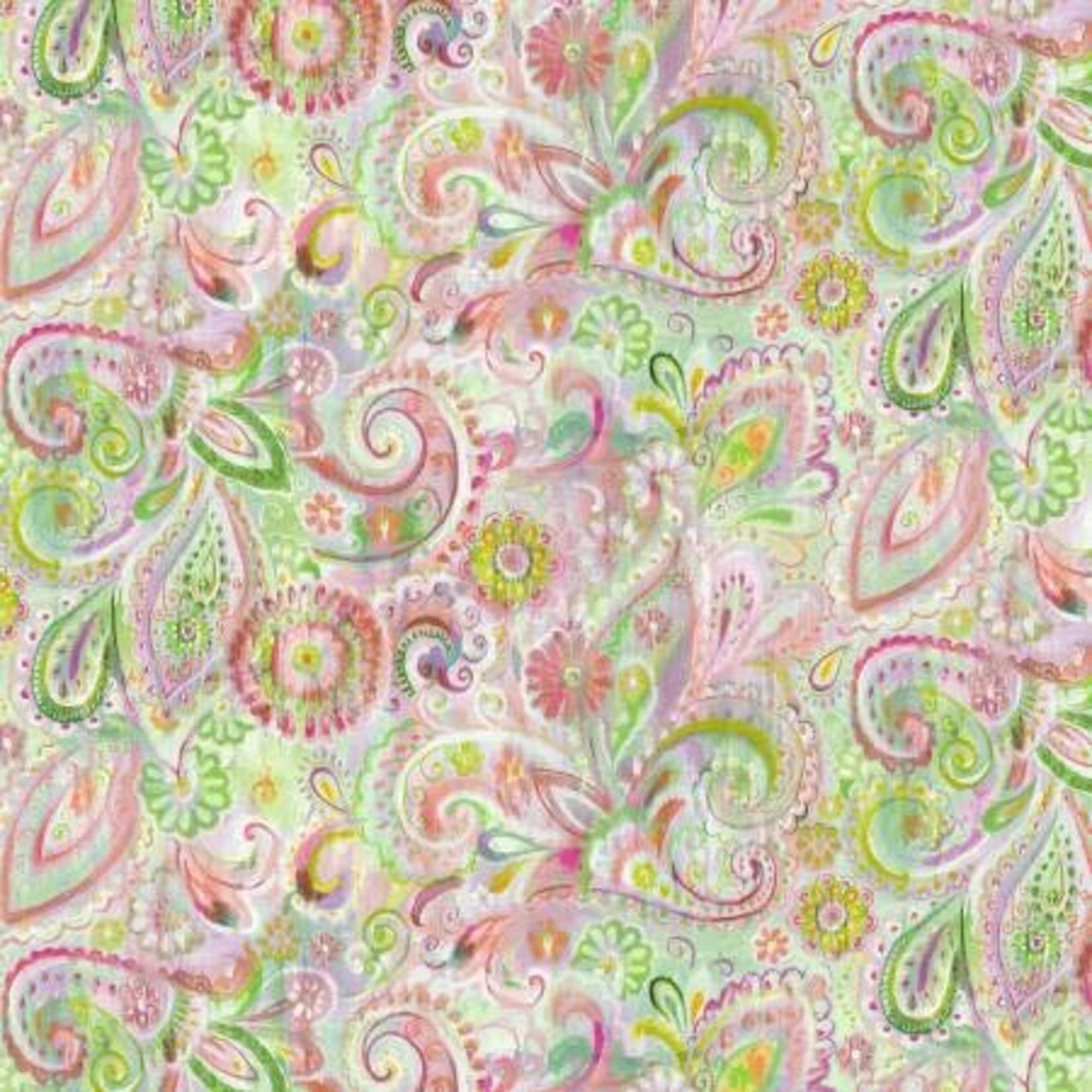 Wilmington Prints Bohemian Dreams - Dream Paisley - Pink