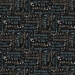 Wilmington Prints Interlude - Words Allover - Black