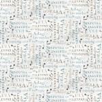 Wilmington Prints Interlude - Words Allover - White