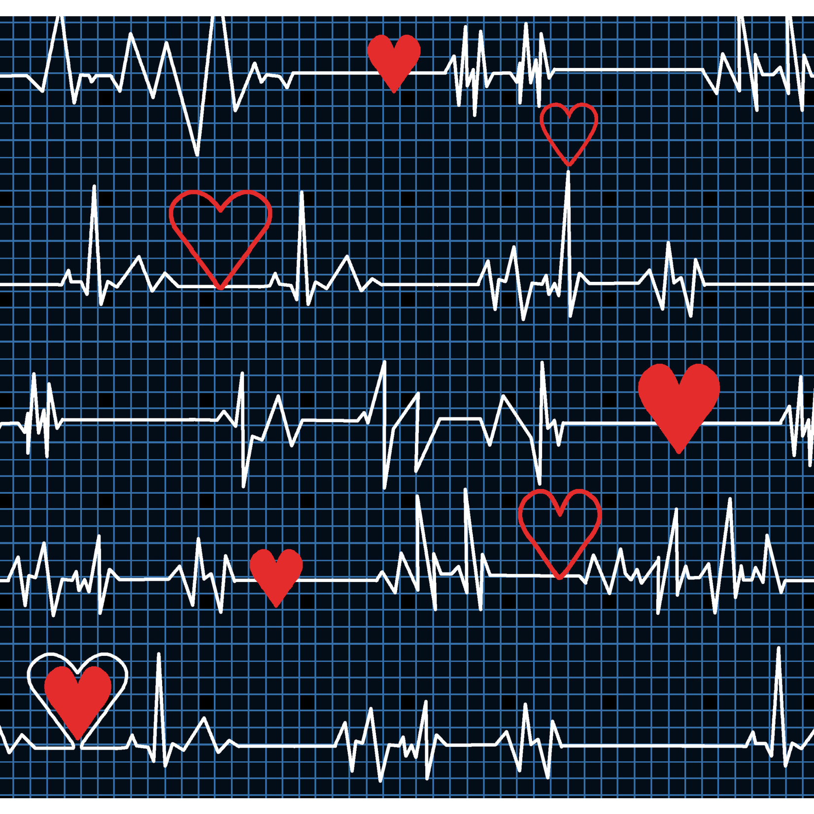 Windham Fabrics Calling All Nurses - Heart Beat - Black