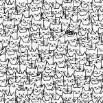 Windham Fabrics Cat Happy - Cats - White