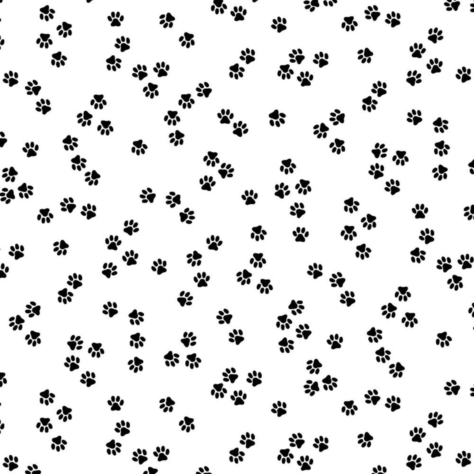 Windham Fabrics Cat Happy - Paws - White