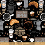 Windham Fabrics Coffee Shop - Black