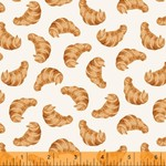 Windham Fabrics Coffee Shop - Croissant - White