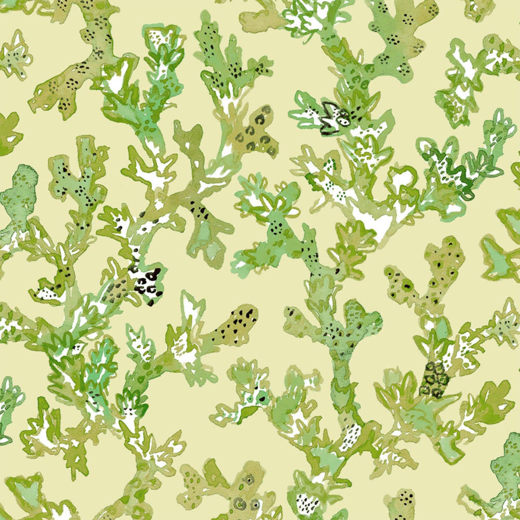 Windham Fabrics Curio - Koraal - Groen