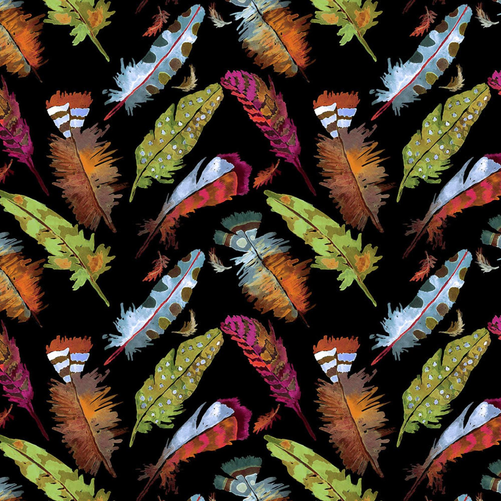 Windham Fabrics Curio - Veren - Zwart
