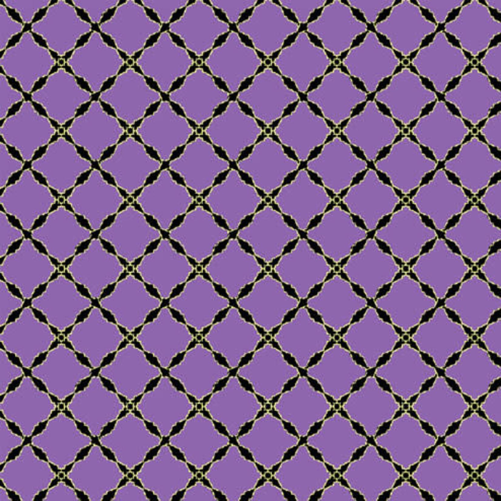 Windham Fabrics Grand Illusion - Lattice - Purple