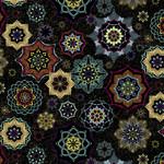Windham Fabrics Grand Illusion - Mandalas - Black