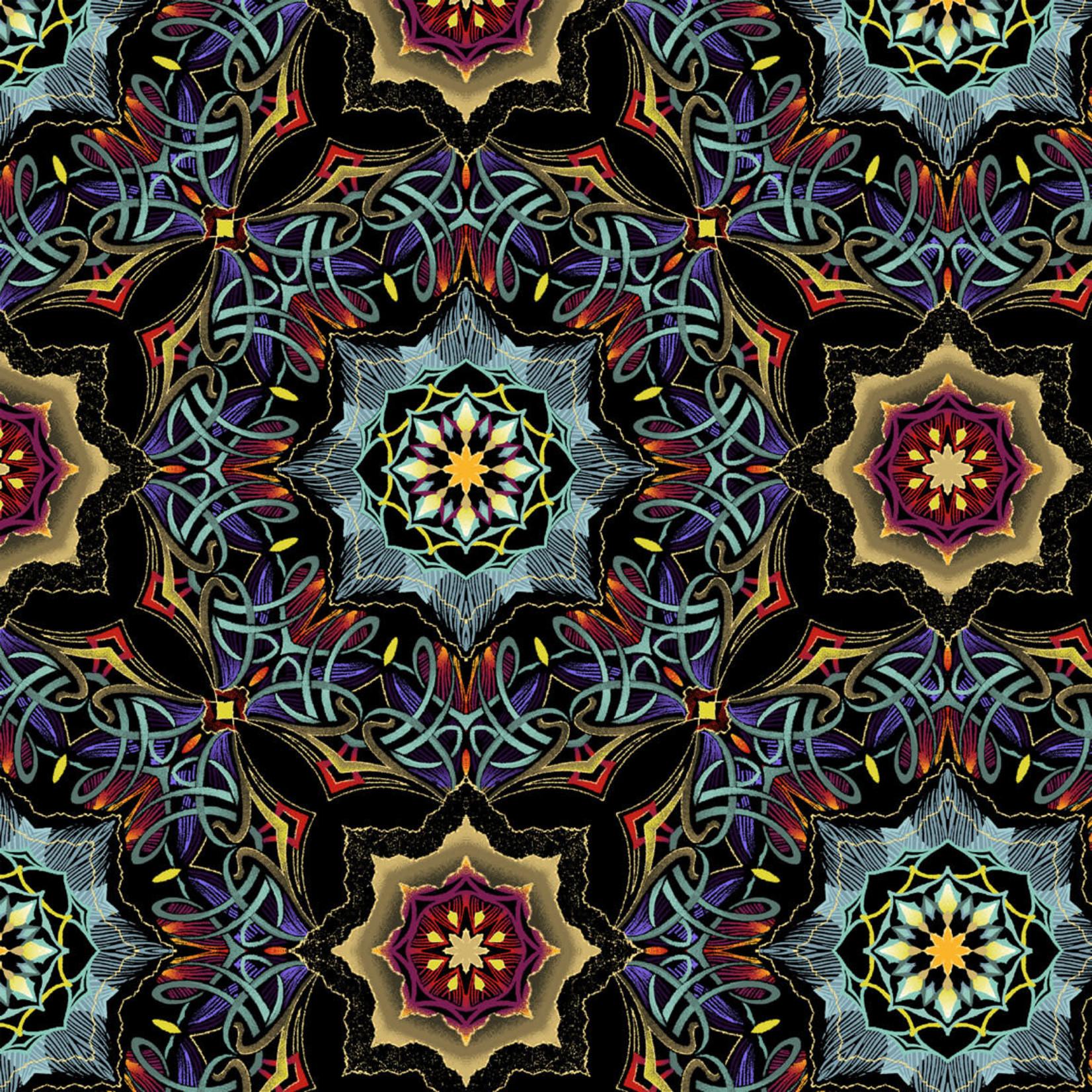 Windham Fabrics Grand Illusion - Mandalas - Multi/Black