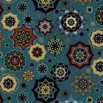 Windham Fabrics Grand Illusion - Mandalas - Turquoise