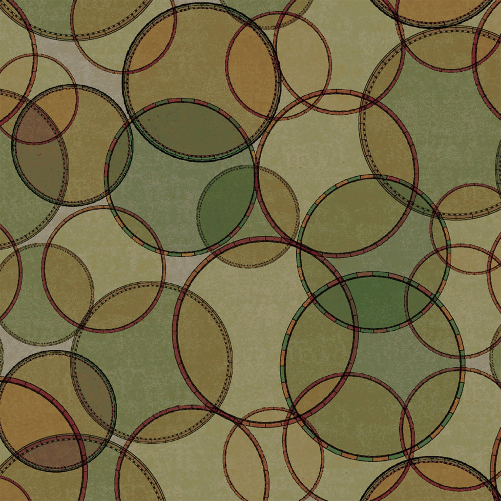 Windham Fabrics Seven Seas - Interlocking Rings - Green
