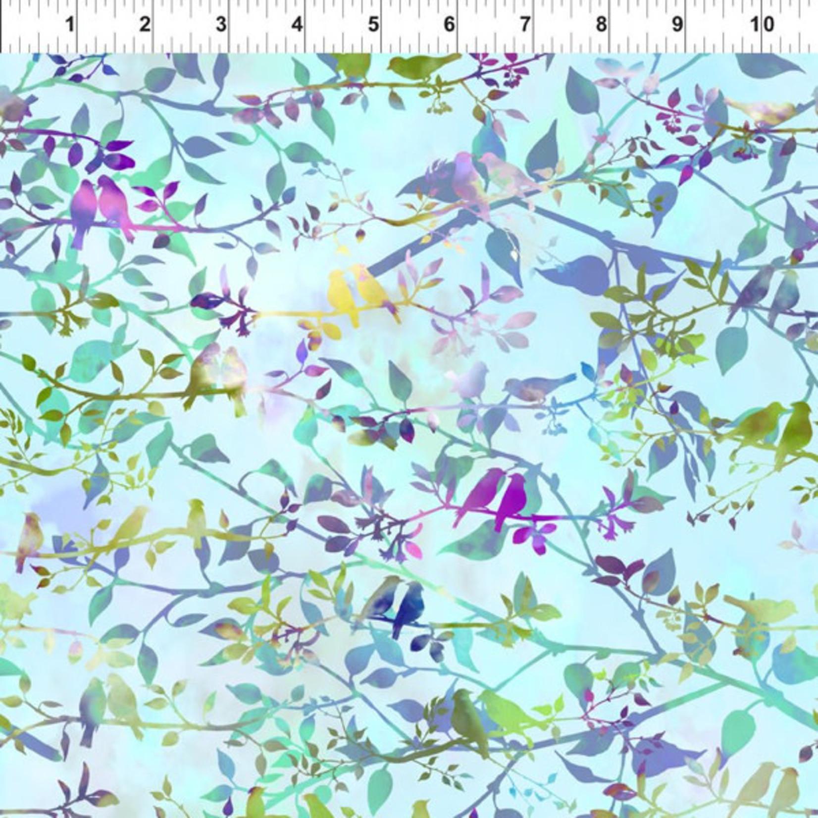 In the Beginning Fabrics Garden of Dreams - Birds - Soft Sky