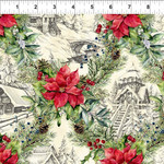 In the Beginning Fabrics A Poinsettia Winter - Parchment