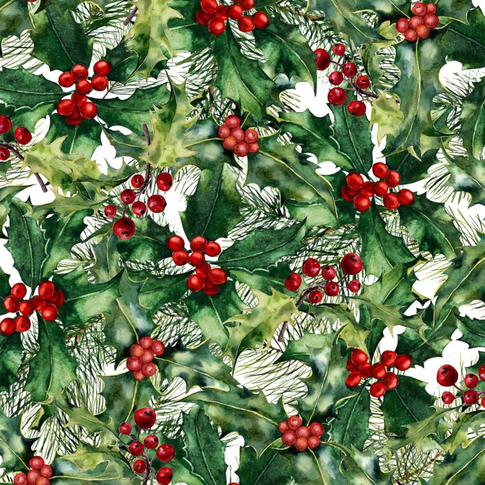 In the Beginning Fabrics A Poinsettia Winter - Holly