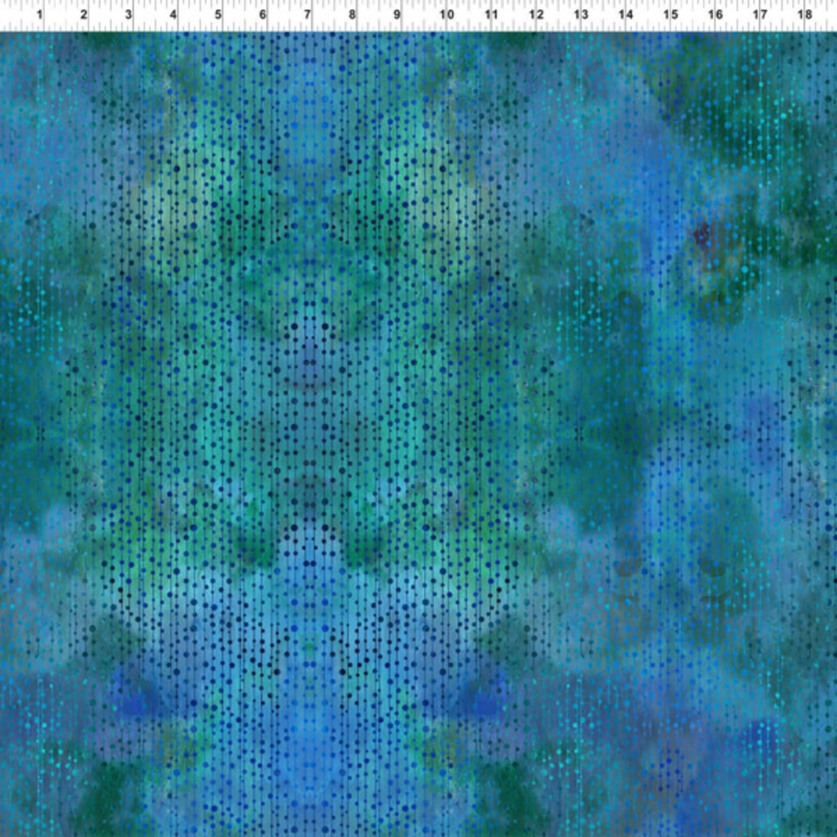 In the Beginning Fabrics Garden of Dreams - Beads - Blue/green