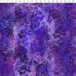 In the Beginning Fabrics Garden of Dreams - Blooms - Deep Purple