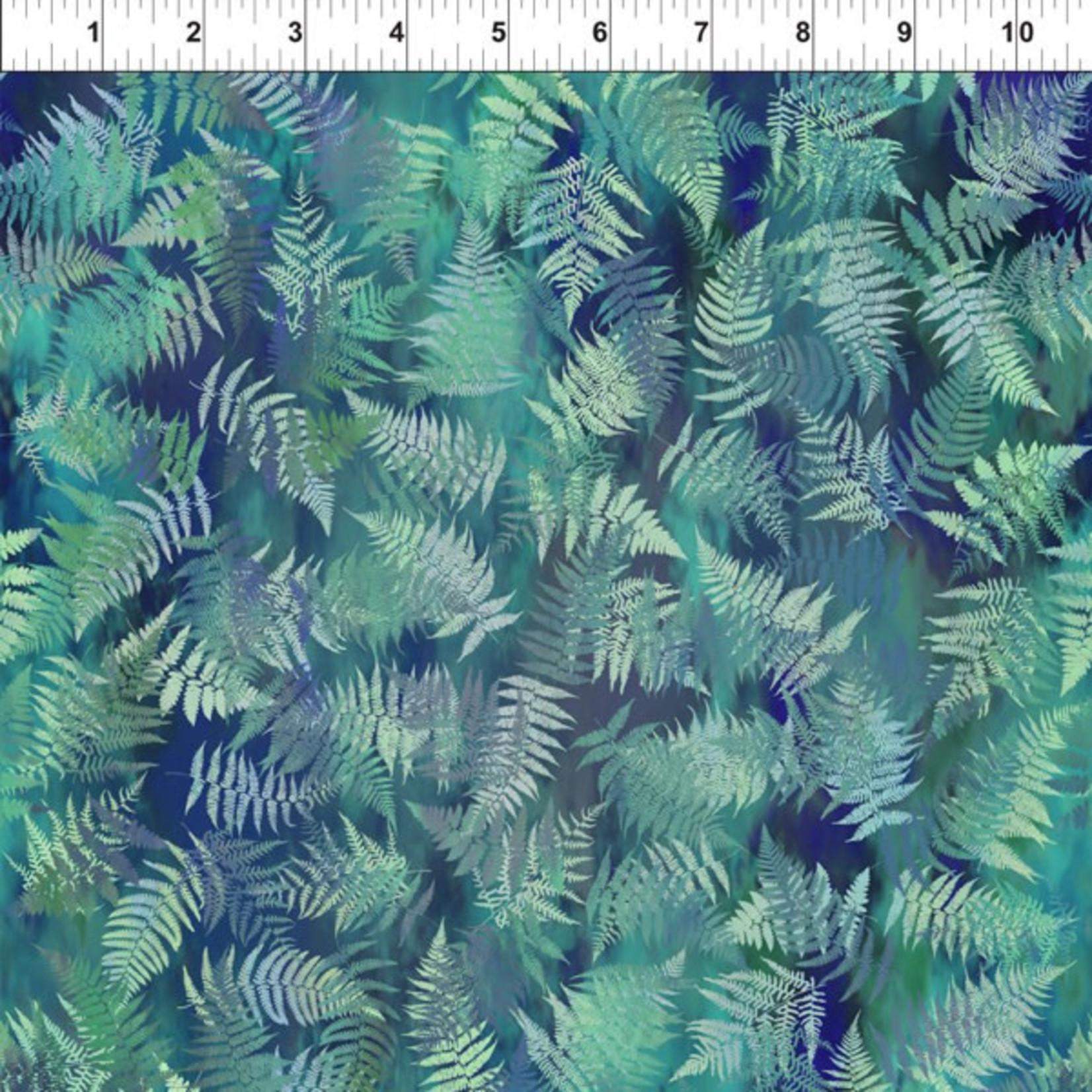 In the Beginning Fabrics Garden of Dreams - Ferns - Dusky Teal