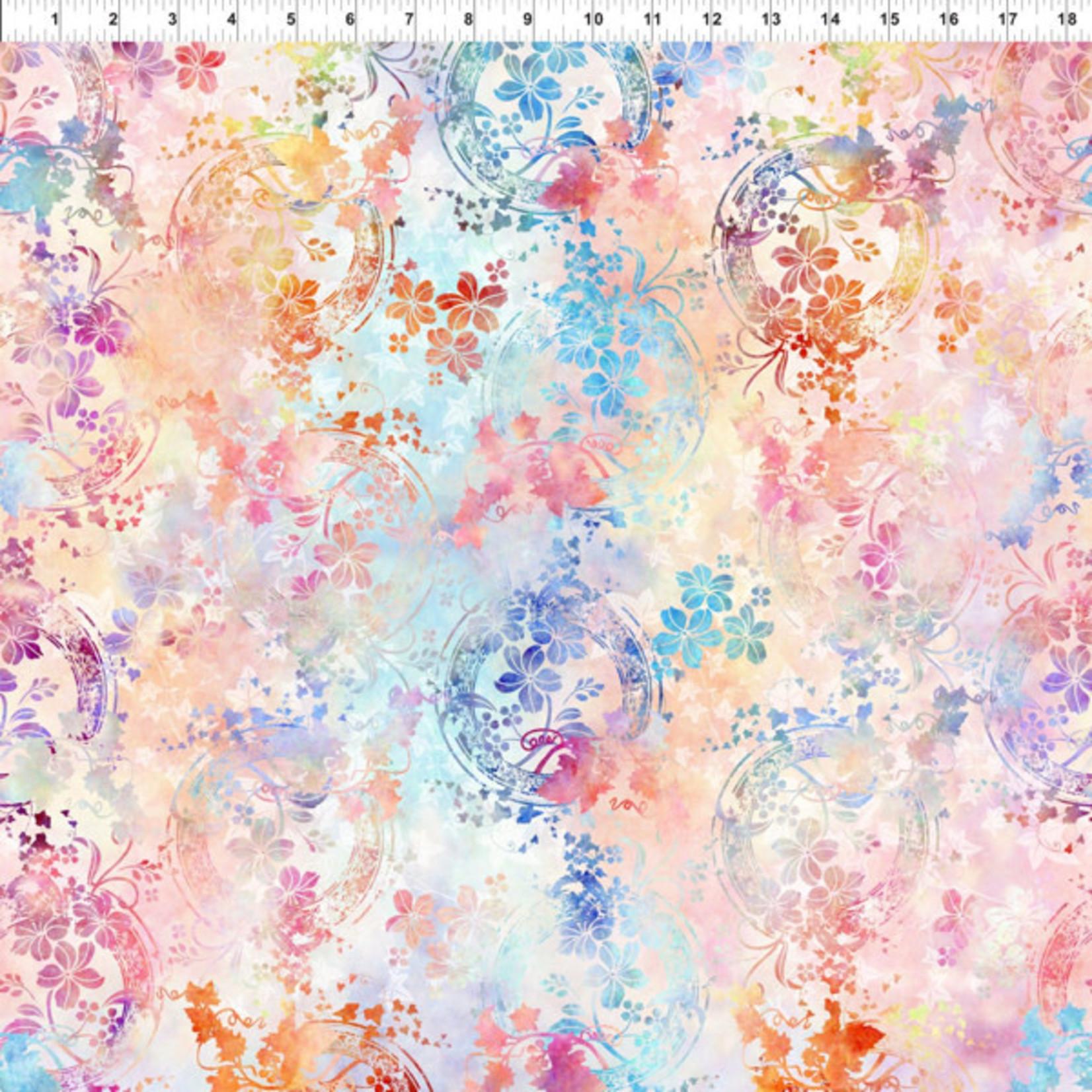 In the Beginning Fabrics Garden of Dreams - Ivy Rings - Soft Peach
