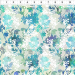 In the Beginning Fabrics Garden of Dreams - Springs - Teal Glow