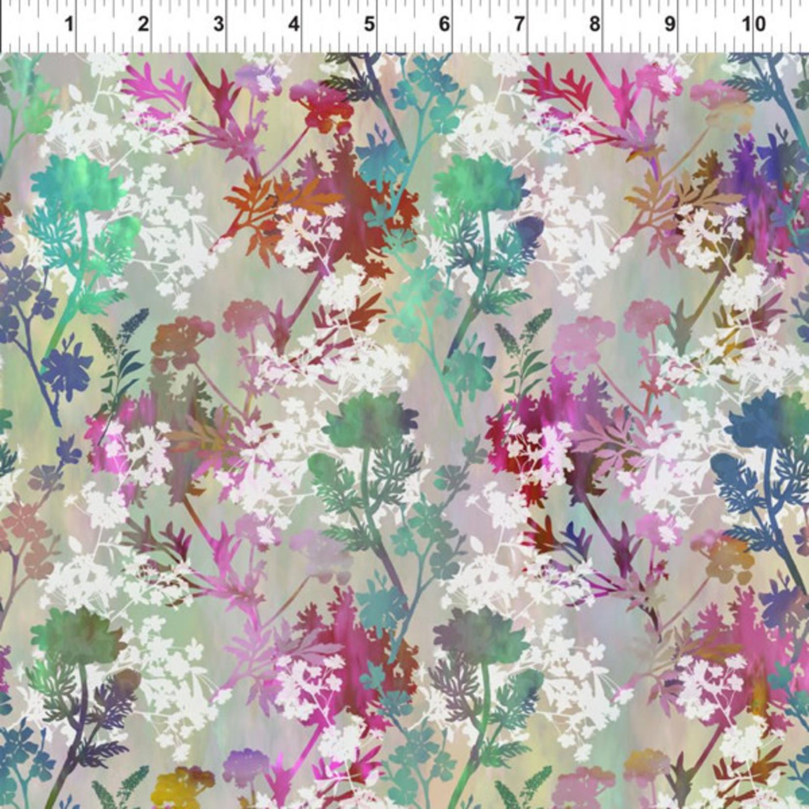 In the Beginning Fabrics Garden of Dreams - Springs - Teal Pink Meadow