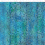 In the Beginning Fabrics Garden of Dreams - Ogee Leaf - Blue Teal