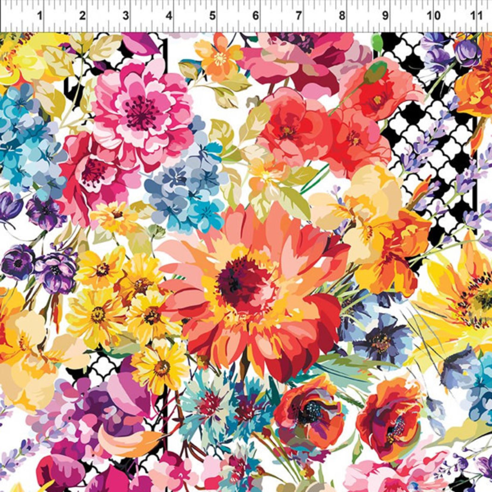 In the Beginning Fabrics Hummingbird Lane - Floral