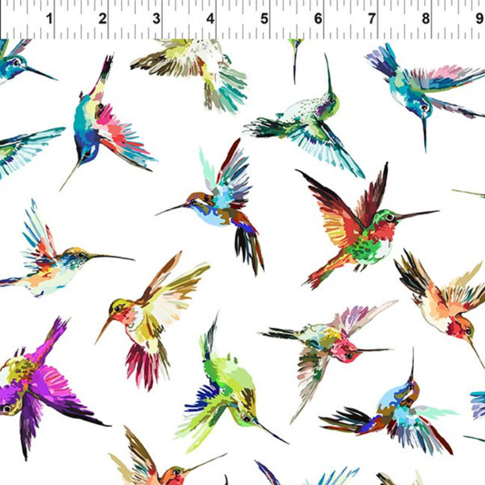 In the Beginning Fabrics Hummingbird Lane - Hummingbirds