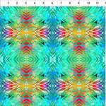 In the Beginning Fabrics Safari - Tie Dye - Blue/Green