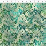 In the Beginning Fabrics Seasons - Butterflies - Green