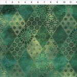 In the Beginning Fabrics Seasons - Diamonds - Green
