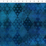 In the Beginning Fabrics Seasons - Diamonds - Blue