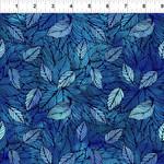 In the Beginning Fabrics Seasons - Leaves - Blue