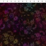 In the Beginning Fabrics Seasons - Night Flowers - Pink