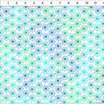 In the Beginning Fabrics Unusual Garden II - Burst - Blue/White