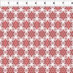 In the Beginning Fabrics Winter Around The World - Snowflakes - Red