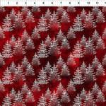 In the Beginning Fabrics Winter Around The World - Trees - Red