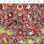 In the Beginning Fabrics Winter Around The World - Stamps - Red