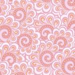 Contempo Studio Free Motion Fantasy - Swirl Feather - Pink