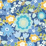 Contempo Studio Front Porch - Summer Floral - Blue