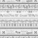 Contempo Studio My Happy Place - Stripe - Gray