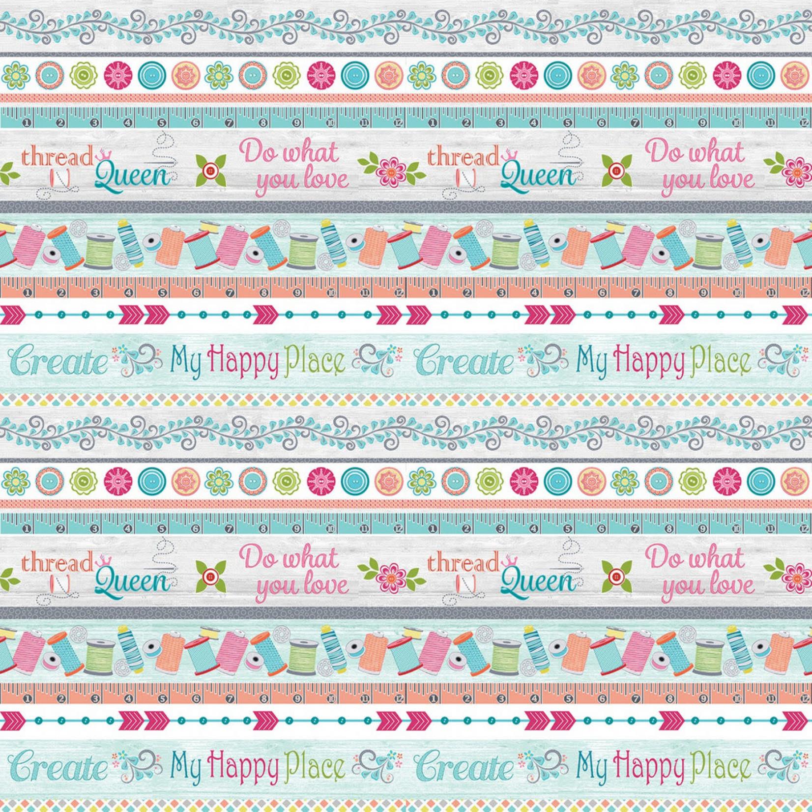 Contempo Studio My Happy Place - Stripe - Multi