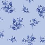 Maywood Studio Silver Jubilee - Spaced Floral - Blue