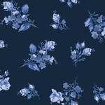 Maywood Studio Silver Jubilee - Spaced Floral - Navy