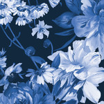 Maywood Studio Silver Jubilee - Main Floral - Navy