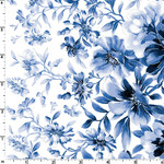 Maywood Studio Silver Jubilee - Main Floral - White - Metallic