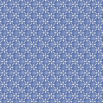 Maywood Studio Silver Jubilee - Diagonal Geo - Blue - Metallic
