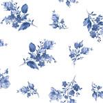 Maywood Studio Silver Jubilee - Spaced Floral - White - Metallic