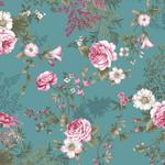 Stof Fabrics Juliet Roses - Roses - Blue