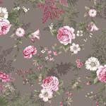 Stof Fabrics Juliet Roses - Roses - Grey